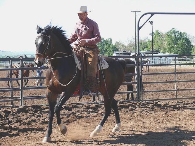Buck Brannaman 7 Clinics: Buck on riding horses